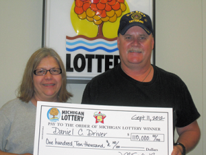 Daniel Driver of Brighton claims $110,000 from the 09/09/2012 Fantasy 5 drawing.