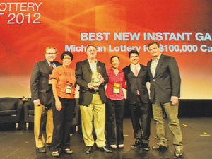The Michigan Lottery was honored with the North American Association of State and Provincial Lotteries' Best New Instant Game award at the recent World Lottery Summit.