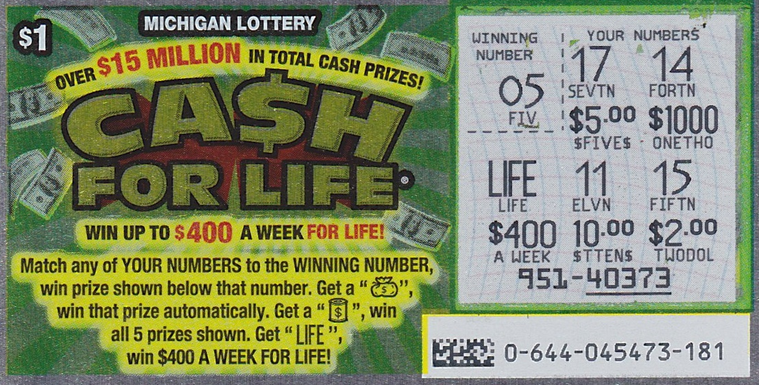 Spent 1 today win cash for life hooray michigan lottery connect