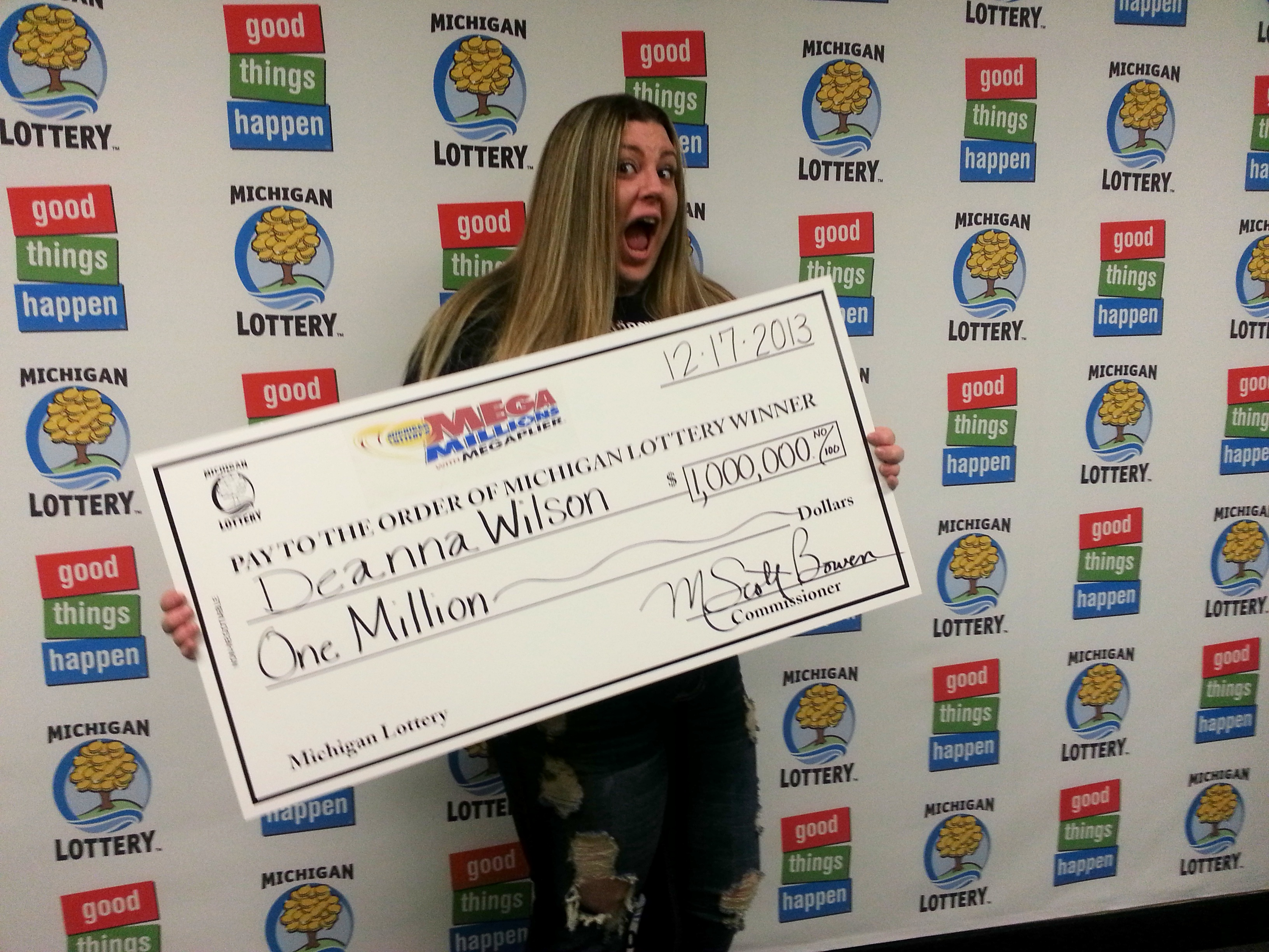 A surprised mega millions winner from http milotteryconnect com 2013 12 17 friday the 13th creates two new millionaires