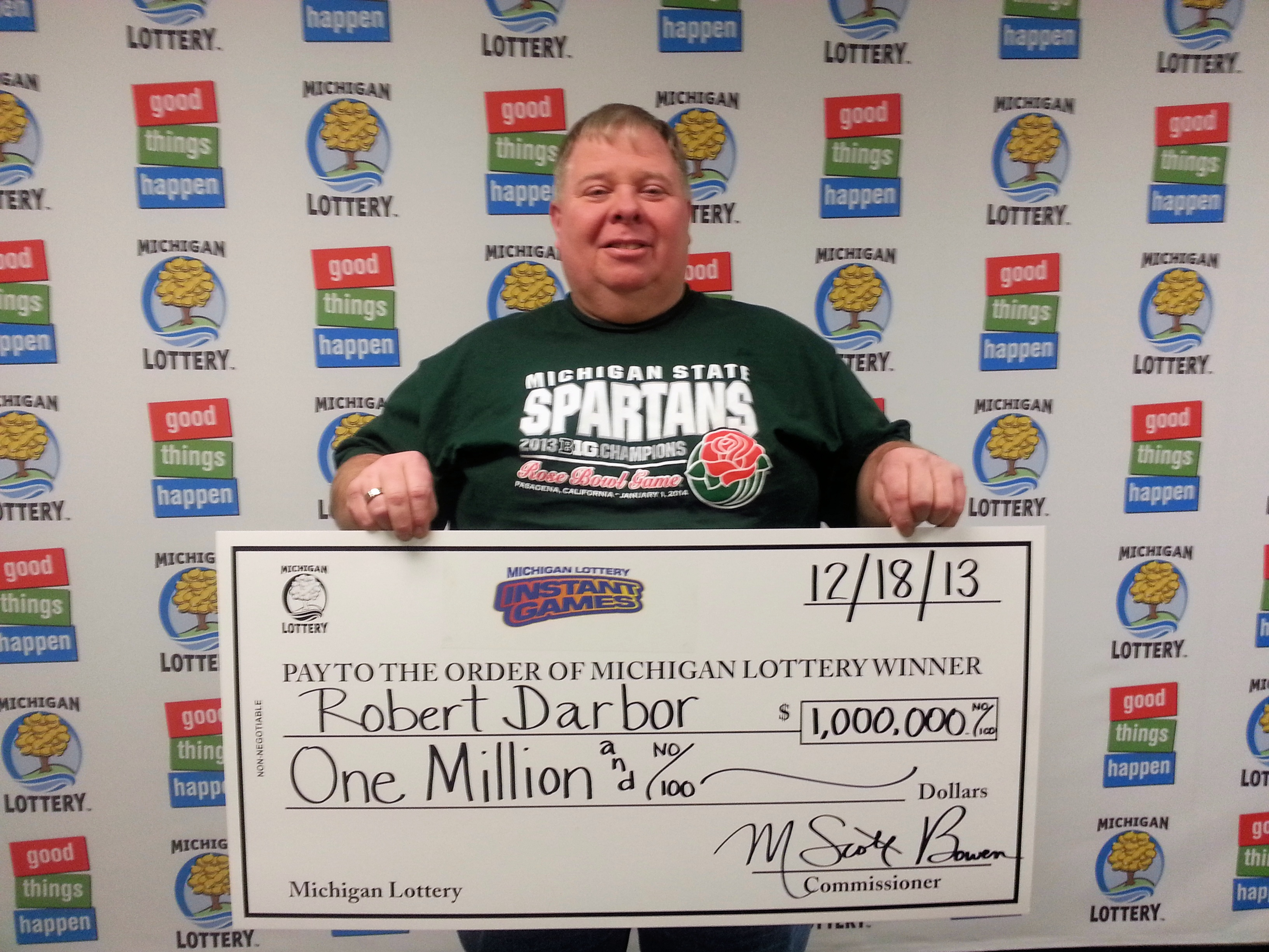 Robert Darbor of Mason claims $1 million prize on Dec.18 at Lottery ...