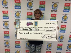 Susan Griffin $100,000 Cashword Winner