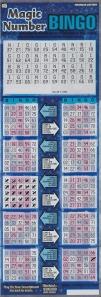 Winning Magic Number Bingo Ticket