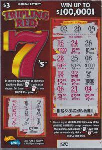 Tripling Red 7's Ticket