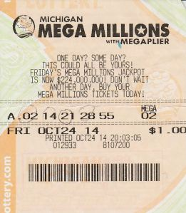 Kennedy Howard won $1 million with this ticket from the Michigan Lottery playing Mega Millions on Oct. 24.