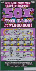 50X The Cash Winning Ticket