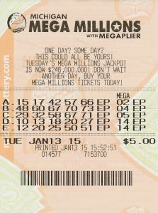 $1 Million Winning Mega Millions Ticket