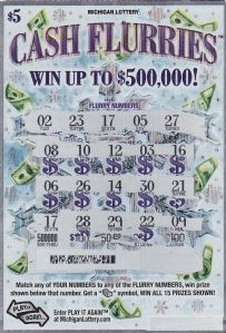 Winning Cash Flurries Ticket