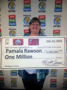 Pam Rawson made Michigan Lottery history becoming the first online game $1 million winner.