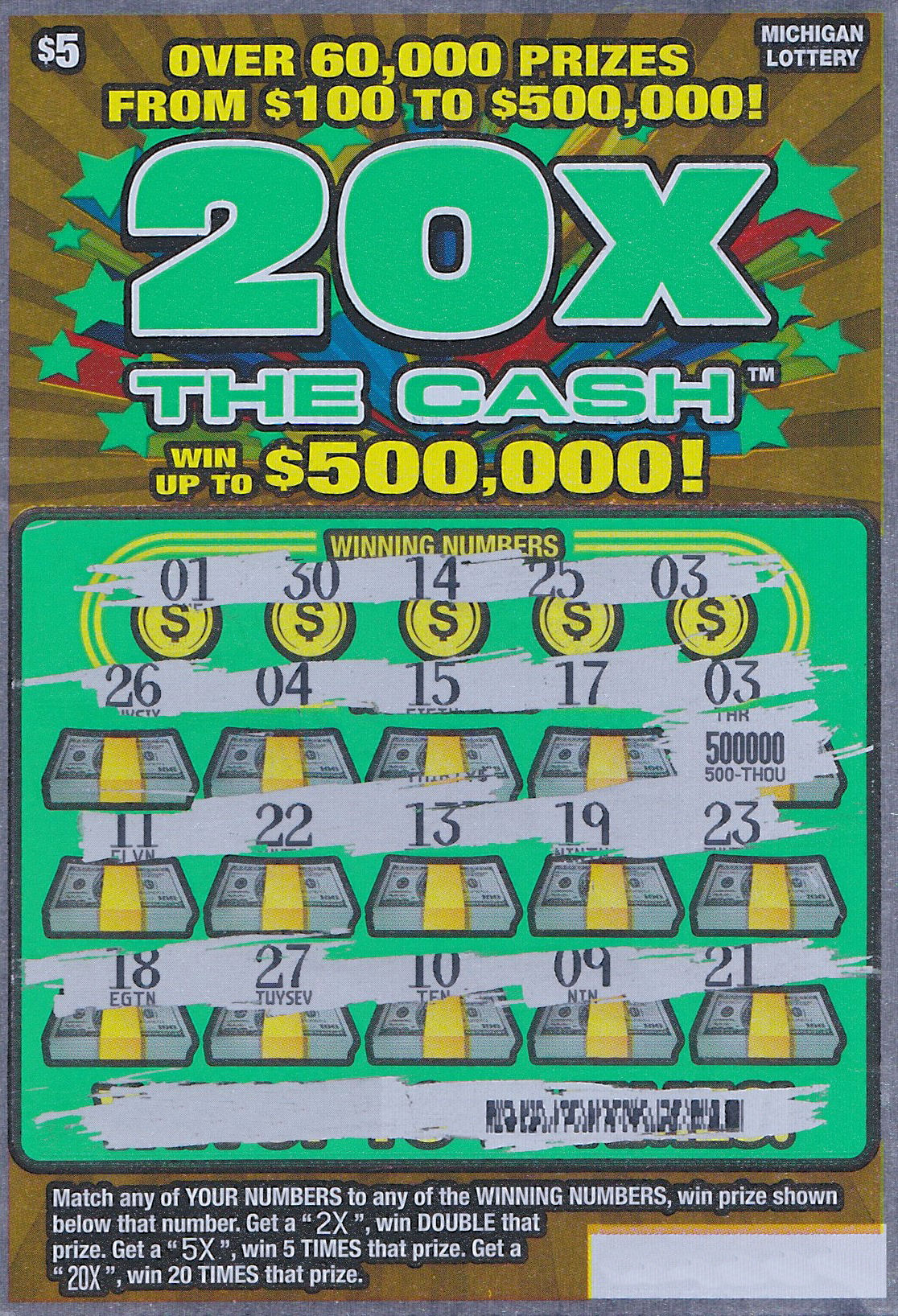 Player wins 500000 on 20x the cash instant game ticket bought in player wins 500000 on 20x the cash instant game ticket bought in boyne city sciox Image collections