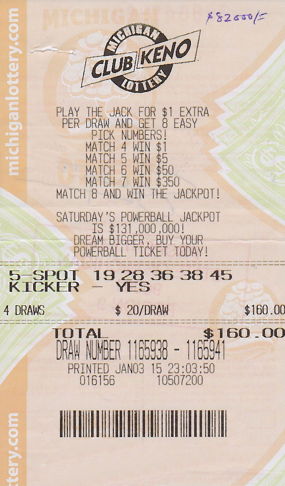 michigan lotto keno
