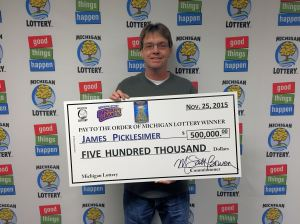 James Picklesimer is all smiles after winning $500,000 playing Money Tree.