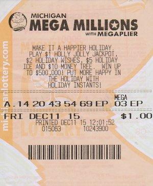 12.14.15 Mega Millions 12.11.15 Draw $1 Million Michael Williams Detroit