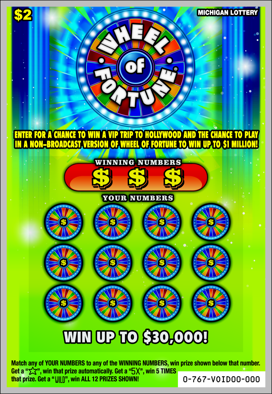 Wheel Of Fortune Tarot Card On Isolate Background Stock: Adrian Woman Wins A Trip To Hollywood Playing Michigan