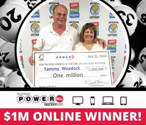 Michigan Lottery Celebrates First $1 Million Online
