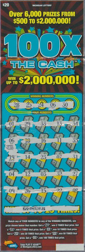Hill's winning ticket.