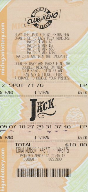 Signorello's winning ticket.