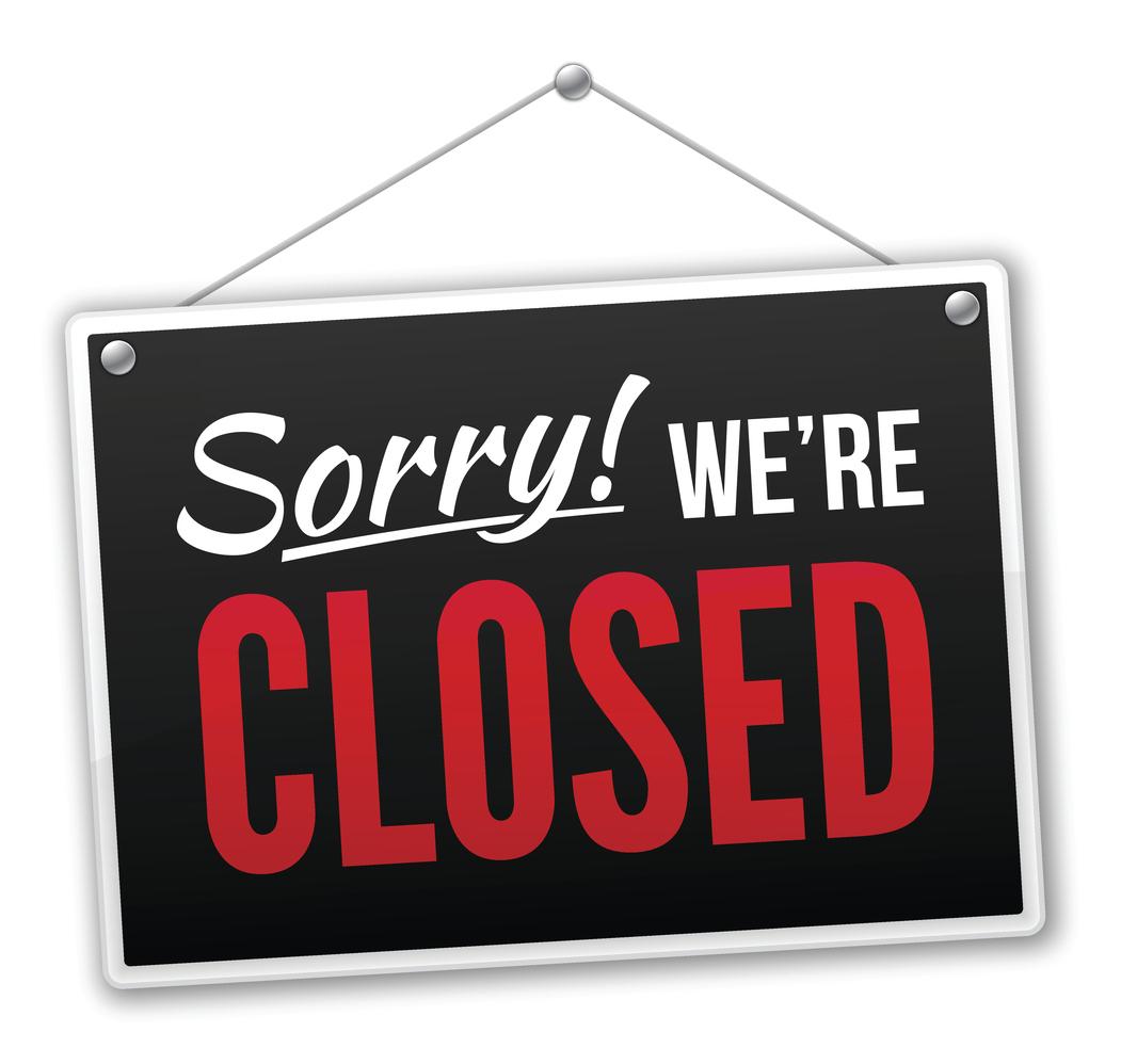 Cartoon closed shop sign.  Cartoon Closed