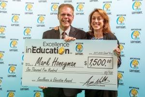 Mark Honeyman Accepts Excellence in Education Award